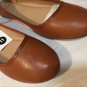 427456ca512 Universal Thread Shoes - Women s Everly Round Toe Ballet Flats - Cognac